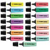 Stabilo Boss Resaltadores con colores originales y tonos pastel, juego completo de 15