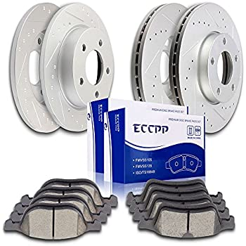 Rear Ceramic Brake Pad Set /& Rotor Kit for 2005 Mazda 3 S-SP23