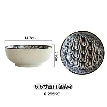 Tlue Tathtub Las Líneas Japonesas Placa De Cerámica Plato De Pescado Plato Tazón De Sopa De