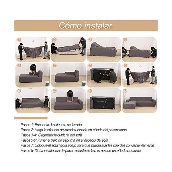 SearchI Housse de Canapé d'angle avec Accoudoirs Housse de Canapé Modèle L Canapé Protecteur Extensible Tissu Stretch Slipcovers élastique Forme L 2 Pièces(Beige,1 Place+1 Place)