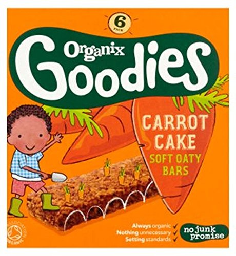 Organix Goodies Organic Carrot Cake Soft Oaty Bars 6 X 30G - Pack of 2