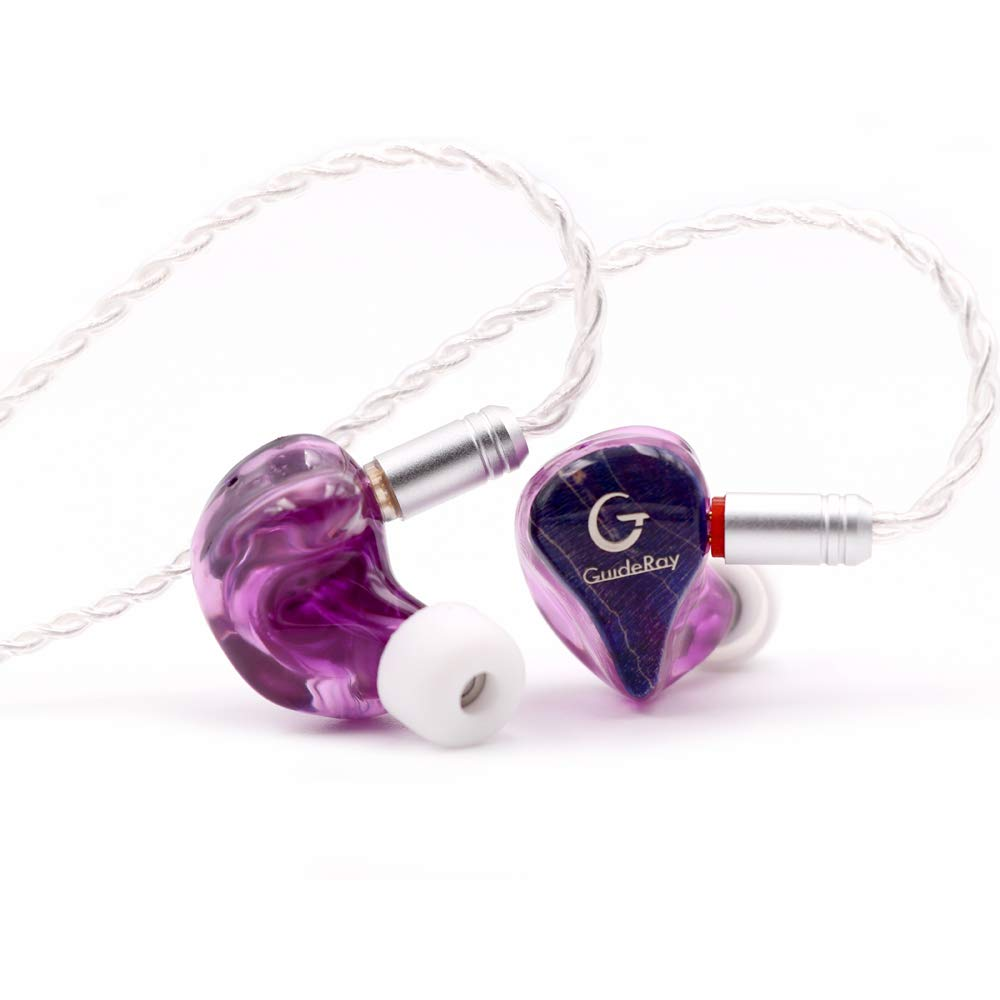 Linsoul GuideRay GR-i Series DD BA Hybrid Dual Driver in-Ear Earphone with Detachable 2 Pin 0.78mm Cable GR-i18 with mic