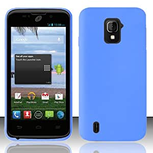 ZTE Majesty Z796C Silicone Soft Skin Gel Case Cover - Blue
