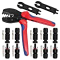 JJDD MC4 Solar Crimping Tools Crimper for Solar Panel 2.5-6.0mm² PV Cable and MC4 Connector Male Female Solar Cable Connection