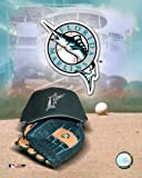 Florida Marlins - '05 Logo / Cap and Glove - Licensed Photo by PhotoFile (8x10)