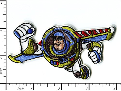 - 10 Pcs Embroidered Iron on patches Toy Story Buzz Lightyear 10x6.5cm AP024aA