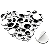 TOAOB 100 Pieces Wiggle Googly Eyes with Self-Adhesive Black 6mm to 35mm Round Mixed Size DIY Scrapbooking Crafts
