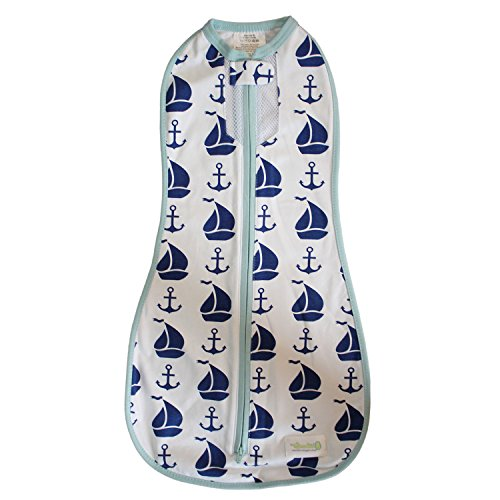 Woombie Nautical for Boy, White/Navy/Blue, 5-13 lbs