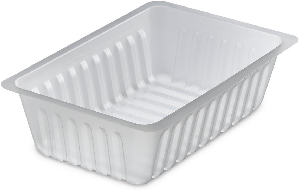 GUILLIN–caissipack b750t bolsita de 250Barquette charcutiere 750CC, poliestireno, Transparente, 17,6x 11,6x 4,9cm