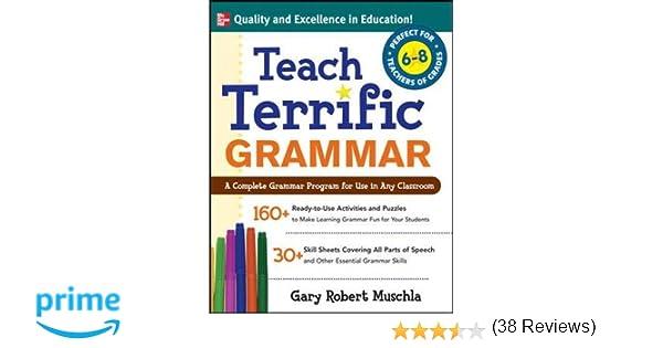 Math Worksheets fun middle school math worksheets : Amazon.com: Teach Terrific Grammar, Grades 6-8: A Complete Grammar ...
