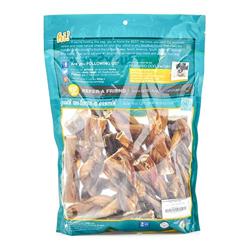 Best Bully Sticks All-Natural 4-5 Inch Braided Bully Sticks by (1 Pound)