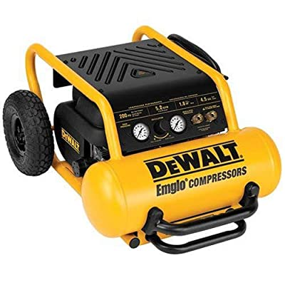 DEWALT D55146 4-1/2-Gallon 225-PSI Hand Carry Compressor with Wheels