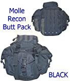 Molle Tactical Recon Patrol Butt Pack Bag Black, Outdoor Stuffs