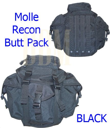 Molle Tactical Recon Patrol Butt Pack Bag Black