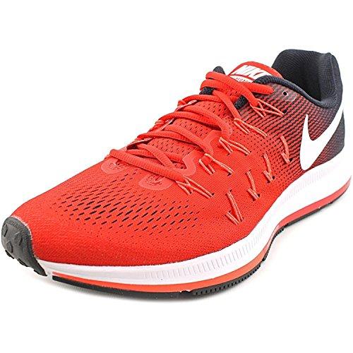 Nike Mænds Luft Zoom Pegasus 33, Universitet Rød / Hvid / Sort, 46 D (m) Eu / 11 D (m) Uk