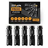 ZONAPA LED Mini Flashlights (5-Pack) Tactical, Compact, Portable | Ultra-Bright Lighting | Indoor