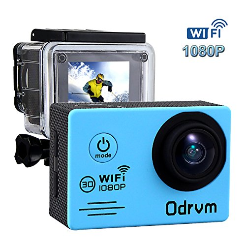 Wifi Underwater Camera Hd 1080P Action Camera Waterproof With 2 Inch Lcd For Riding Racing Skiing Motorcycle Motocross And Water Sports
