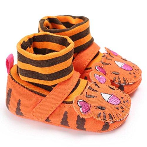 Hunpta Baby Säugling scherzt Mädchen weiche alleinige Krippe Kleinkind Neugeborene Schuhe Orange