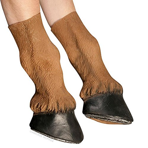 [Latex Prancing Horse Hooves Pony Costume Gloves] (Horse Hoof Shoes Costume)