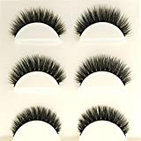 BBire Makeup 3D Natural Long Fake Eye Lashes Handmade Thick False Eyelashes Black