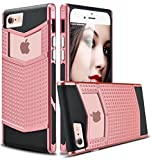 6 plus iphone protective case - iPhone 6s Plus Case, Ansiwee Anti-slip Shockproof Armor iPhone 6 Plus Protective Defender Case Shell Slim Fit Non-slip Grip Rubber Bumper Case Cover for Apple iPhone 6/6s Plus 5.5 Inch (Rose Gold)