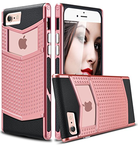 iPhone 6s Plus Case, Ansiwee Anti-slip Shockproof Armor iPhone 6 Plus Protective Defender Case Shell Slim Fit Non-slip Grip Rubber Bumper Case Cover for Apple iPhone 6/6s Plus 5.5 Inch (Rose Gold)