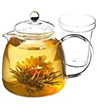 GROSCHE Munich 42 oz. Glass Teapot with Glass Tea Infuser, 1250 ml (42 fl oz) capacity