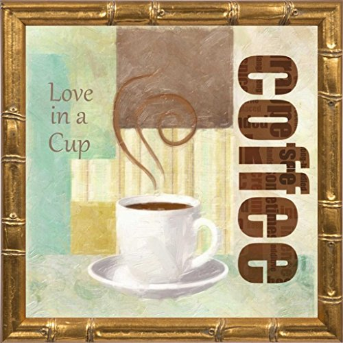 9x9 LOVE IN A CUP by Greene, Taylor: Gold Bamboo TG-SQ-169A