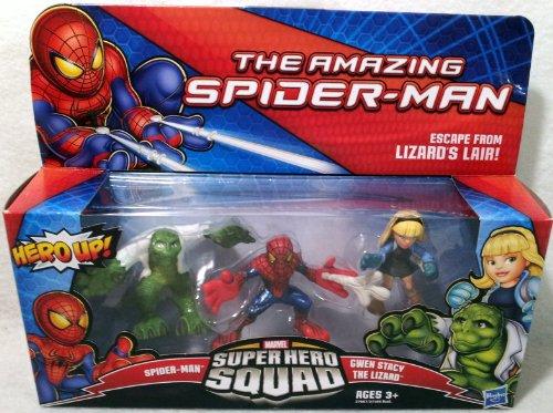 Spider Man Superhero Squad - Marvel Super Hero Squad Amazing Spider-Man Escape from Lizards Lair Figure 3 Pack