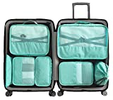 Packing Cubes Backpack Organizers Set for Carry on Travel Bag Luggage Cube (NewGreen 7pcs)