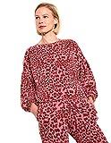 SUNDRY Leopard Ruched Sweatshirt Pigment Sierra