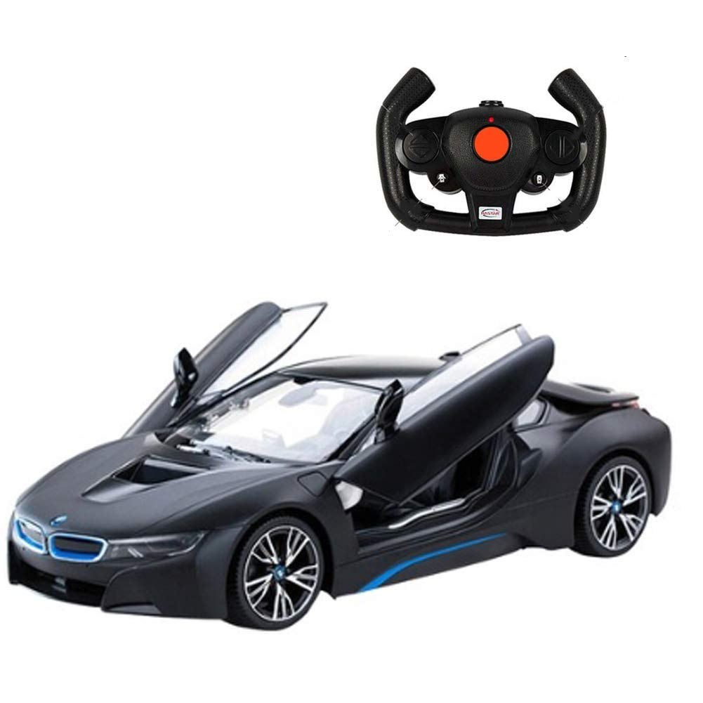 RASTAR RC車BMW i8ラジオリモコン車1:14スケール車4.8V専用充電パックUSBチャージャー大人&子供用RCカーBLACK RASTAR RC Cars BMW i8 Radio Remote Control Cars 1:14 Scale Vehicle 4.8V Dedicated charging pack USB Charger RC Car for Adults& Kids BLACK B07HWXW26J
