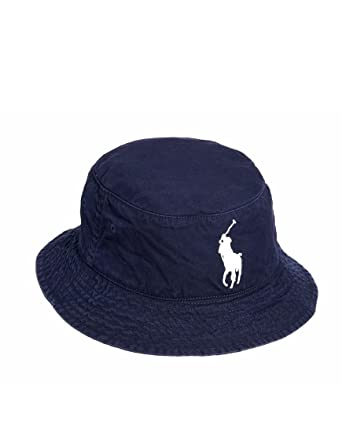 5683d2a7e14 Ralph Lauren Polo Navy Big Pony 100% Lightweight Cotton Chino Bucket Hat -  S