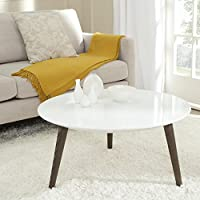 Safavieh Home Collection Josiah White and Dark Brown Accent Table