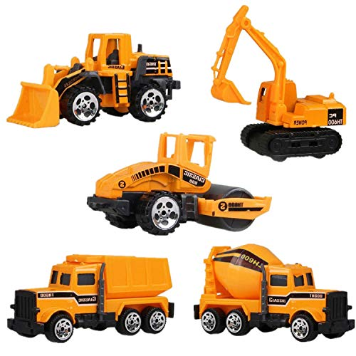 Construction Toys Sets, Pack of 5 Mini Metal Construction Vehicle Truck Series for Kids Learning, Early Development Diecast Engineering Car (Construction Vehicle)