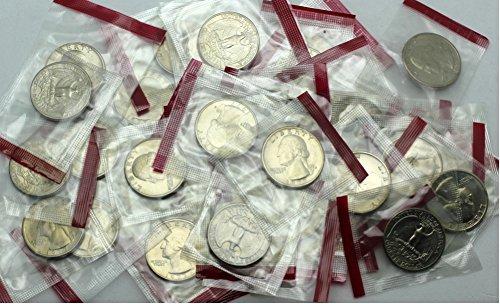 (1977 D Washington Quarter - 40 Coins in Mint Cello - Brilliant Uncirculated )
