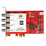 TBS 6522 Multi Standard Dual Tuner Pci-E Tv Tuner Dvb-S / Dvb-T / Dvb-C (Satellite, Terrestrial, Cable) Full Hd 1080P & Sd