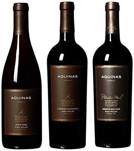 Aquinas Napa Valley Red Wine Selections, 3 x 750 mL