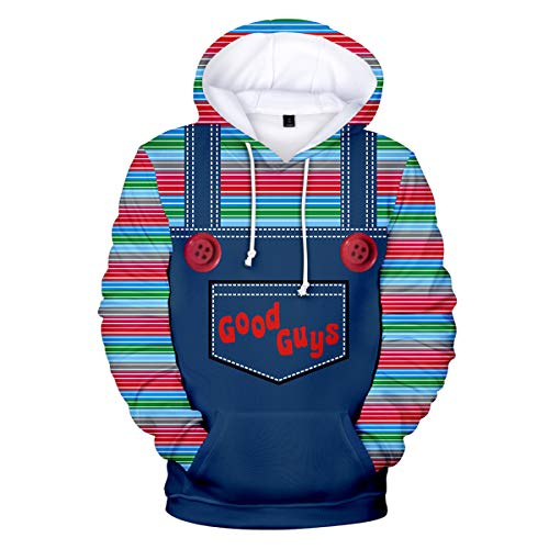 Good Guys Chucky Sweaters Unisex Sweatshirt Hooded Boy Pullover Hoodie Men Printed Novelty -