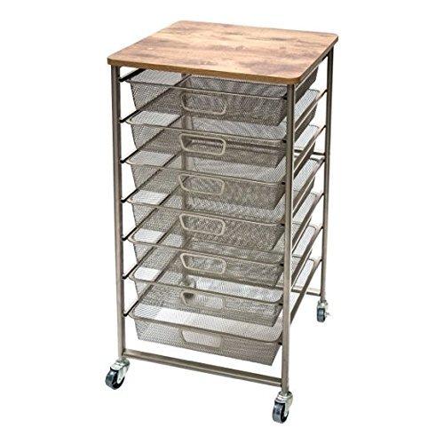 Tim Holtz Idea-ology Signature Design Industrial Storage Cart, 33.5