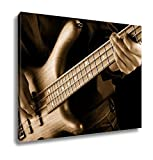 Ashley Canvas Jazz Bassist Vintage Photo, Home Office, Ready to Hang, Sepia 20x25, AG6104155