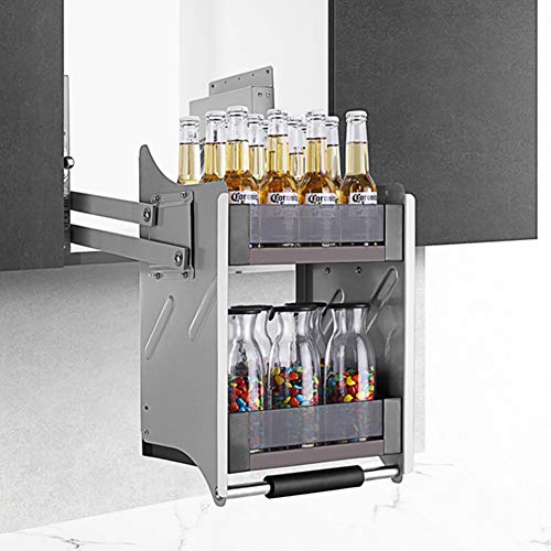 SPACEKEEPER Wall Cabinet Pull-Down Shelving System Pull Down Cabinet Pull Down Shelving for Kitchen, 24in Width