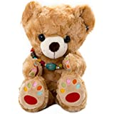 Vobell Plush Rainbow Bear Soft Toy Perfect For Kids, Teens , Adults (Brown) 13inch
