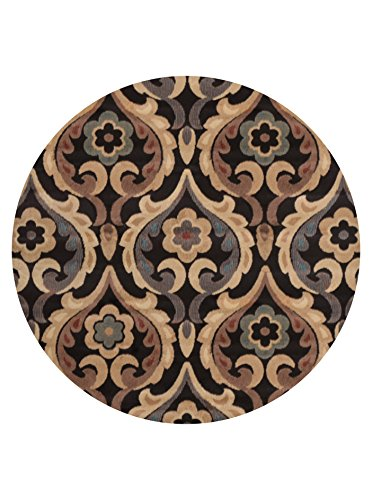 Home Dynamix HD4902-500 Catalina Round Area Rug, 39-Inch, Brown