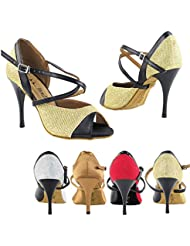 50 Shades 2828 Comfort Evening Dress Pump Sandals, Women Ballroom Dance Shoes (2.75, 3 & 3.5 High Heels)