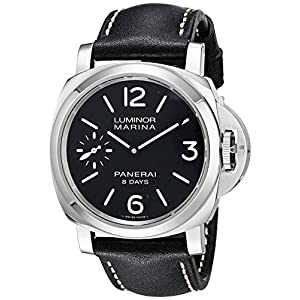 Panerai Men's PAM00510 Luminor Marina Analog Display Mechanical Hand Wind Black Watch
