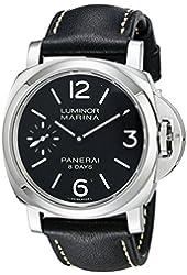 Panerai Men's PAM00510 Luminor Marina Analog Display Mechanical Hand Wind Black Watch