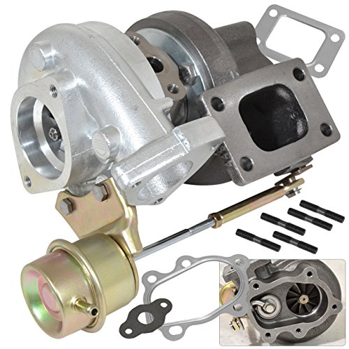 (Universal T25/T28 Oil/Water Cooled Hybrid Turbo Charger With Internal Actuator Wastegate)
