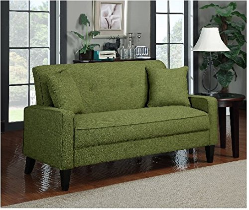 Classical Green Upholstered Fabric And Linen Sofa