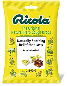 Ricola Original Natural Herb Cough Drops, 21 Drops (Pack of 12)
